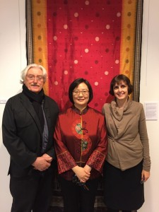 Dr. Anthony Phillips, CCC Museum Manager Toni Yue Zhang McAffee, Julie Grundvig